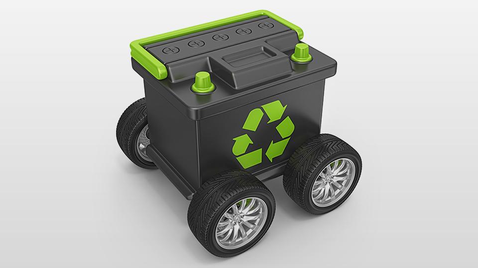 oude batterijen uit elektrische apparaten en backup